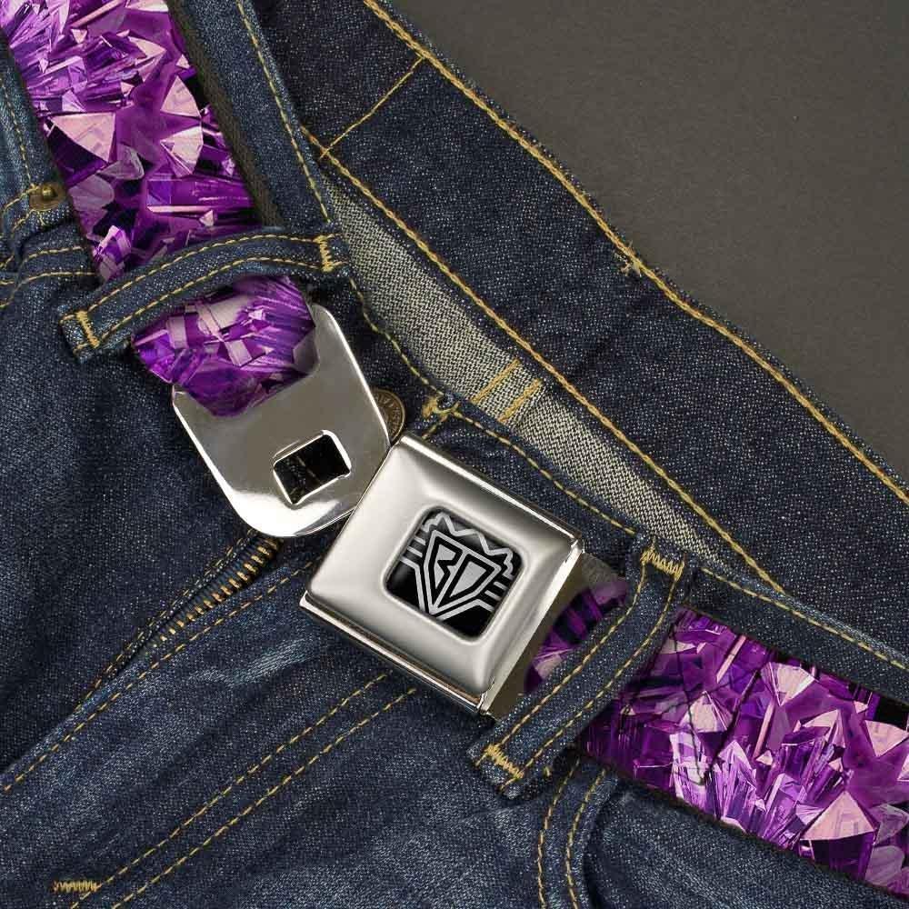 Purple ash Buckle-Down Unisex-Adults Seatbelt Belt Crystals Regular 1.5 Wide-24-38 Inches