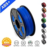 SUNLU ABS Filaments for 3D Printer-Blue ABS Filament 1.75 mm,Low Odor Dimensional Accuracy +/- 0.02 mm 3D Printing Filament,2.2 LBS (1KG) Spool 3D Printer Filament for Most 3D Printers & 3D Pens,Blue