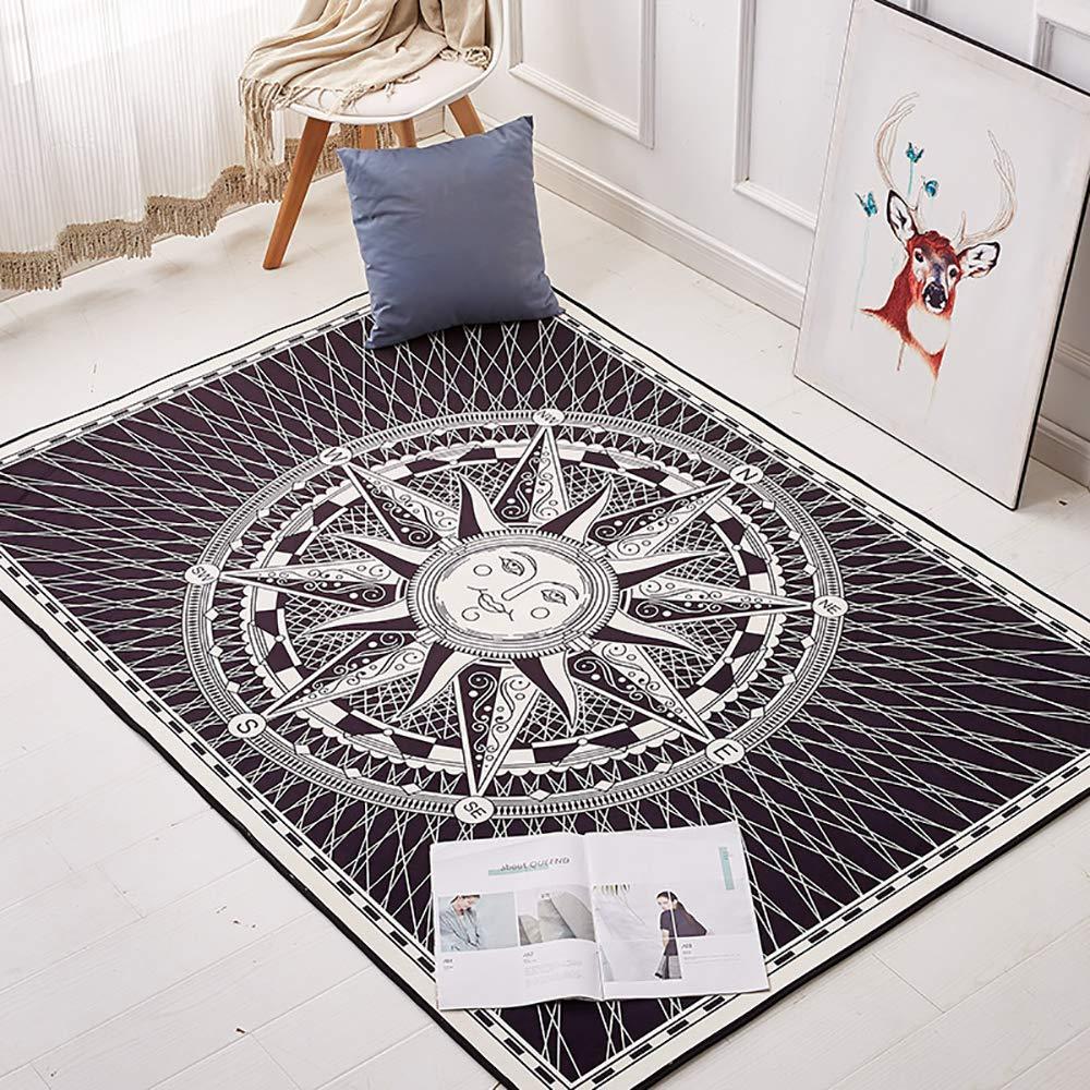 GOMAR Nordisch Schwarz Und Rosa Trend Teppiche Mode Persönlichkeit Teppich Matte Wohnzimmer Schlafzimmer Sofa Waschbar Teppich Pad