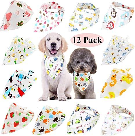 Free Shipping Dog Bandana Ready to Ship SET of 3 LARGE Over the Collar Pet Bandana