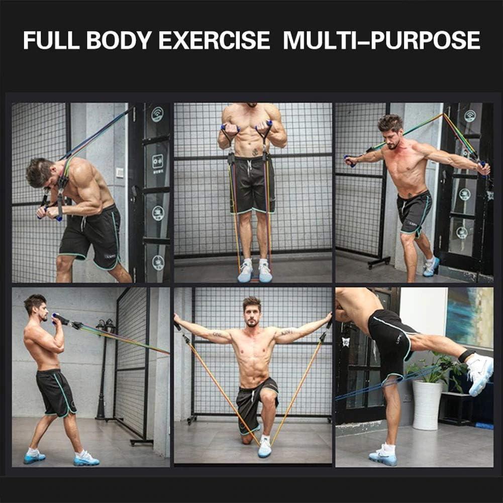 MYEDO 11PCS Bandes de R/ésistance Elastiques Musculation 100LBS Bandes de Fitness Kit avec Ancre de Porte//Poign/ées//Sangle de Cheville///étui de Transport pour Yoga Pilates Fitness Entra/înement