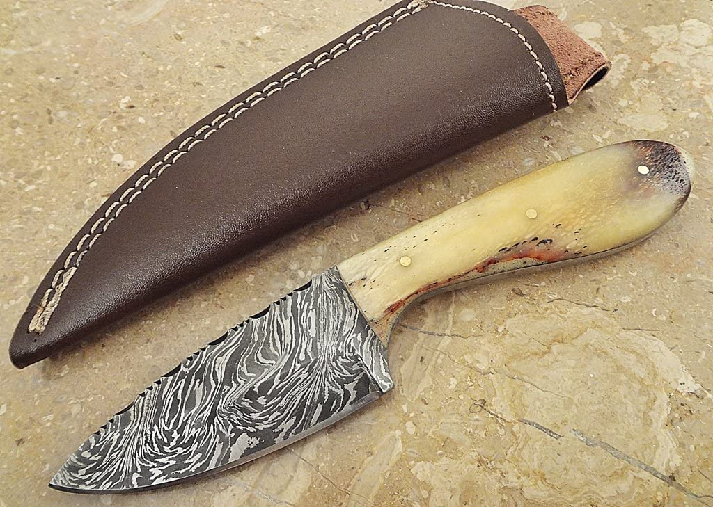 ColdLand Knives Offer by 7.5 Custom Handmade Damascus Steel Hunting Skinner Knife SH01-B
