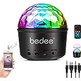 Luces Discoteca Giratoria,bedee Bola Disco Recargable 9 Colores Lámpara Disco Bluetooth, Bola Luces Discotecade…