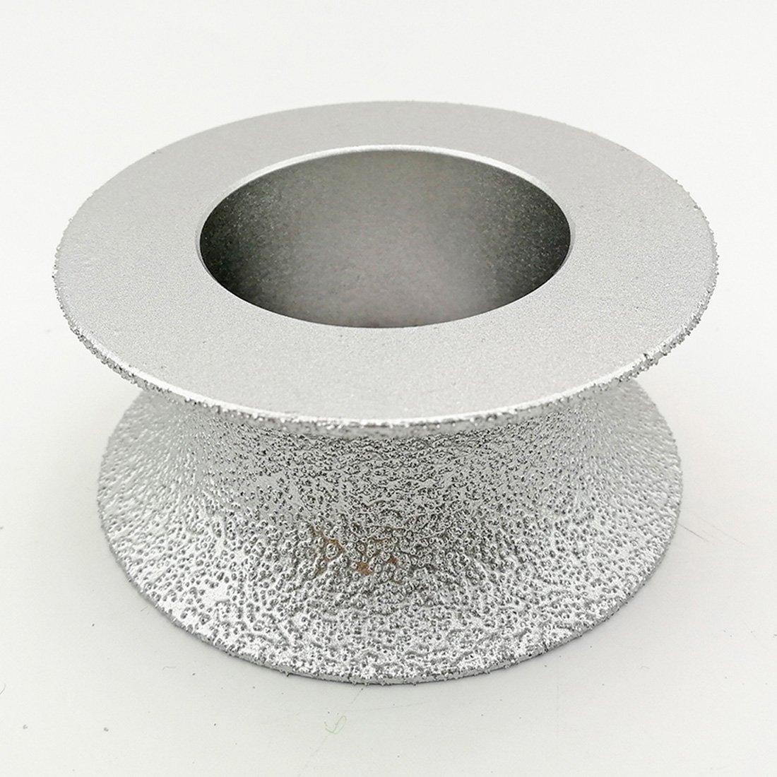 DIATOOL 75MM Meule Diamant/ée Bras/ée Sous Vide Bord demi-rond Profil/é de Bordure pour Profil/é en Pierre Main Meule Diamant/ée Grit 60 Diamant Hauteur 30mm