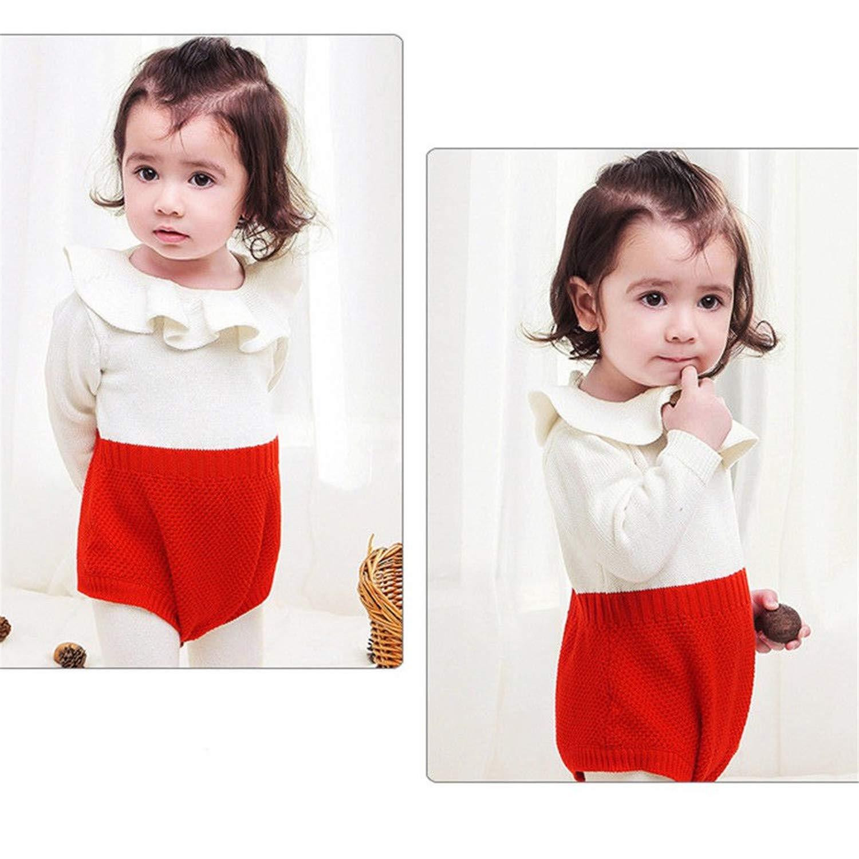 Jinbaolong Sale Winter Romper Newborn Baby Girl Long Sleeve Cape Collar Wool Knitting Warm Romper Jumpsuit Playsuit Outwear Baby Clothes