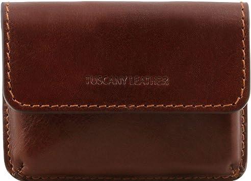 Tuscany Leather Exklusive Visitenkartenetui Aus Leder Braun