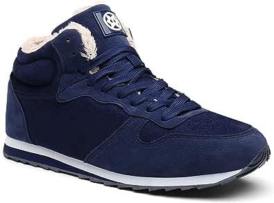 Gaatpot Zapatos Invierno Botas Forradas de Nieve Zapatillas Sneaker Botines Planas para Adulto Unisex 36-48