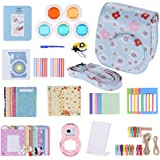 Andoer 14 in 1 Accessories Kit for Fujifilm Instax Mini 8/8+/8s Camera Case/Strap/Sticker/Selfie Lens/5pcs Colored Filter/Album/3 Kinds Film Table Frame/10pcs Wall Hanging Frame/40pcs Border Sticker