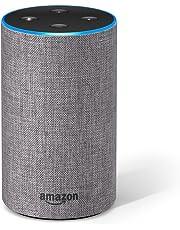 Certified Refurbished Amazon Echo (2nd generation), Heather Grey Fabric