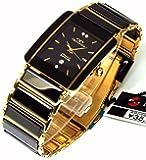 TECHNOS テクノス メンズ腕時計 クラシック セラミック ブラックダイヤル 本革ブレスセット TSM903GB-SET [並行輸入品]