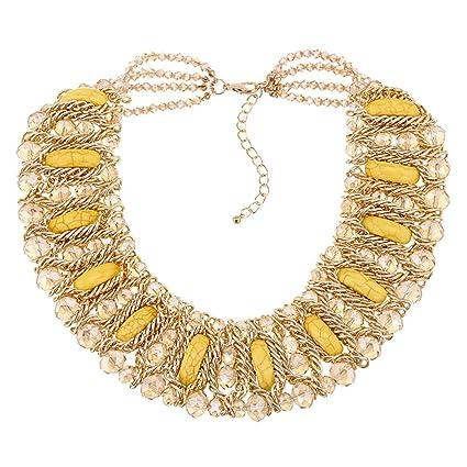 5416d84af8f9 Señoras de La Vendimia Collar de Cristal Hecho A Mano Puro Grande Elegante  Decoración del Partido