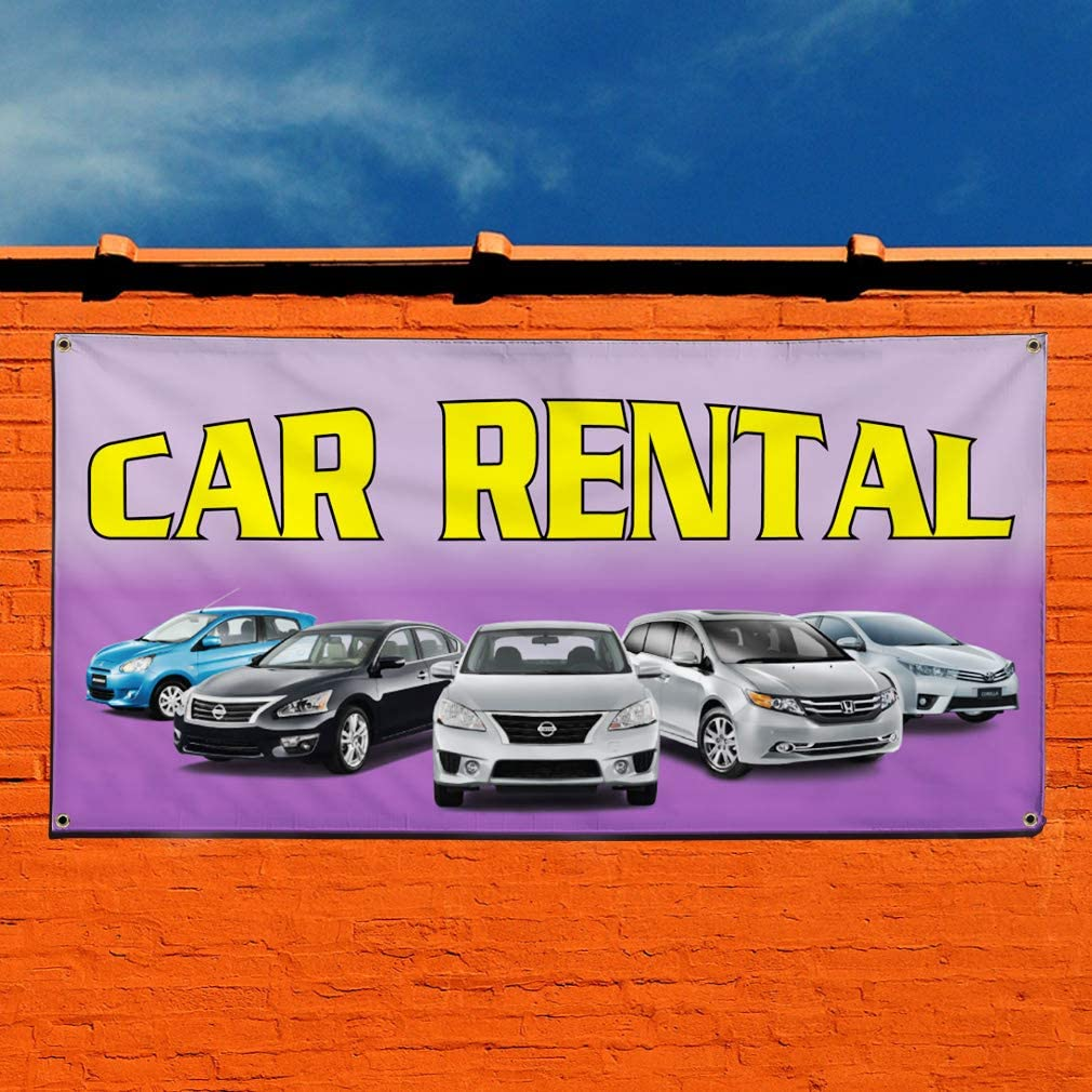 Vinyl Banner Multiple Sizes Rental Cars Available Auto Body Shop A Business Outdoor Weatherproof Industrial Yard Signs Red 10 Grommets 60x144Inches