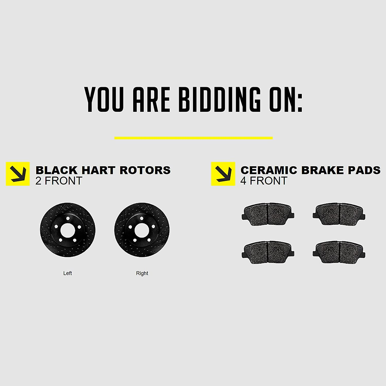 Fits Toyota MR2 Spyder Echo Front Black Drilled Brake Rotors+Ceramic Brake Pads