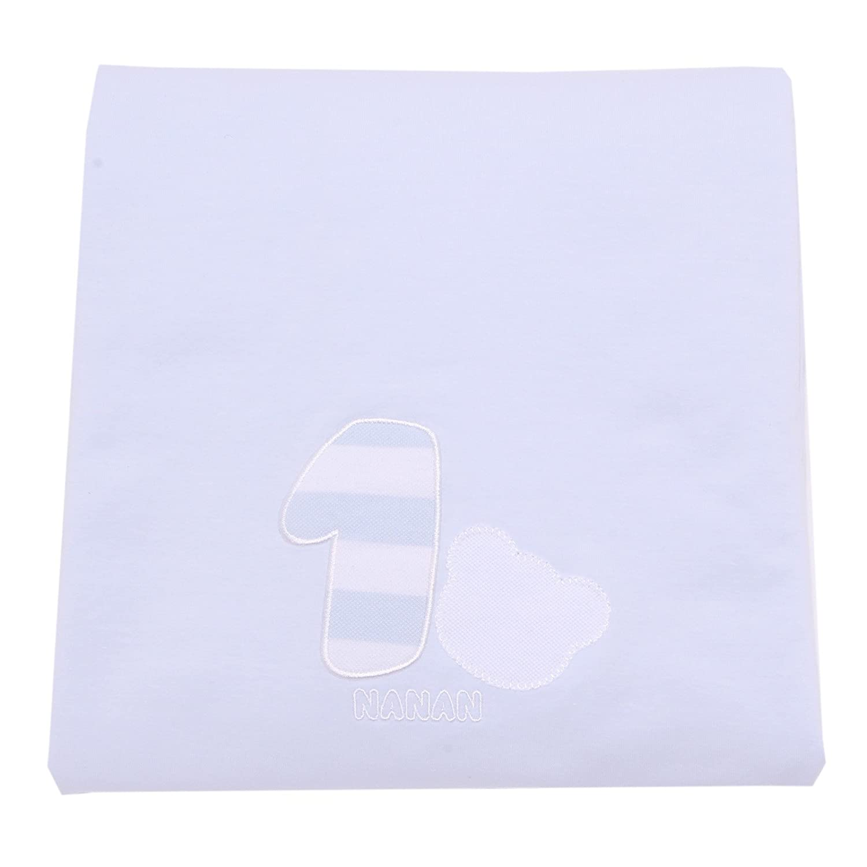 4819T copertina bimbo NANAN azzuro cotone cradle cover blanket baby