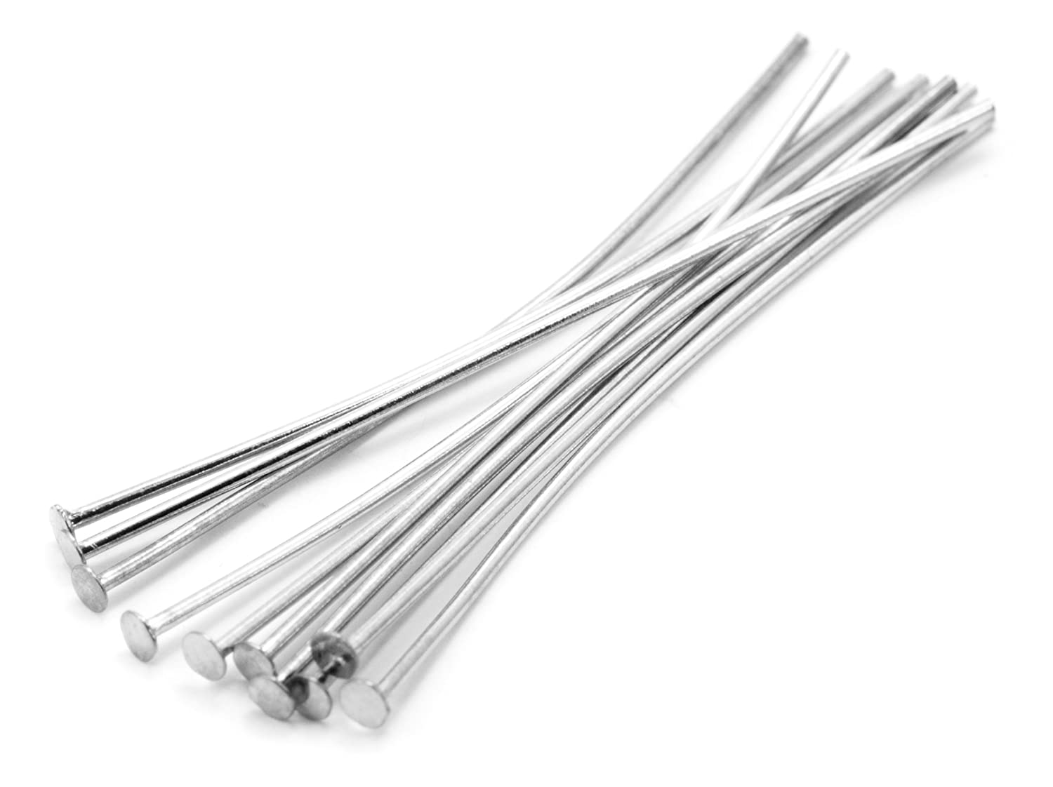 Cousin 35mm Sterling Pin-10pc Party Supplies, Flat End Head Pin, Silver, 3 Pieces Notions - In Network 2949437