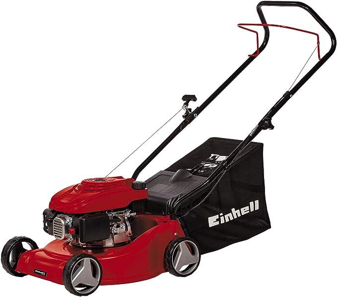 Einhell Cortacésped de gasolina GC-PM 40 (1,2 kW, ajuste de altura de una sola rueda en 3 niveles, larguero de guía plegable, para 800 m²): Amazon.es: Bricolaje y herramientas