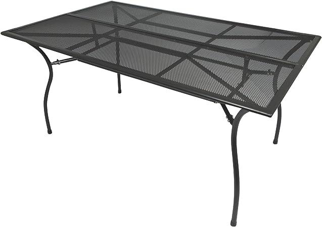 Degamo Gartentisch Classic 90x150cm Rechteckig Aus Metallstreckmetall Anthrazit