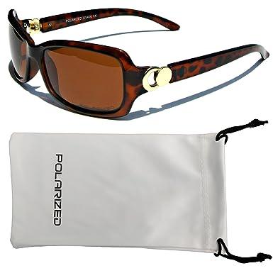 VOX mujeres polarizado gafas de sol de diseñador clásico Chic moda gafas – Marco de la tortuga – ámbar