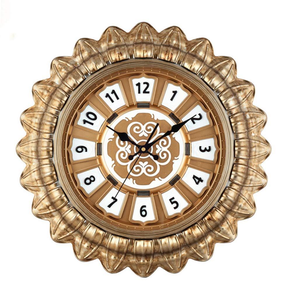 forma única A OFVV Reloj De Parojo Parojo Parojo Retro Creativo Sala De Estar Mudo Sol Reloj De Parojo De Cuarzo 19 Pulgadas,A  precios al por mayor