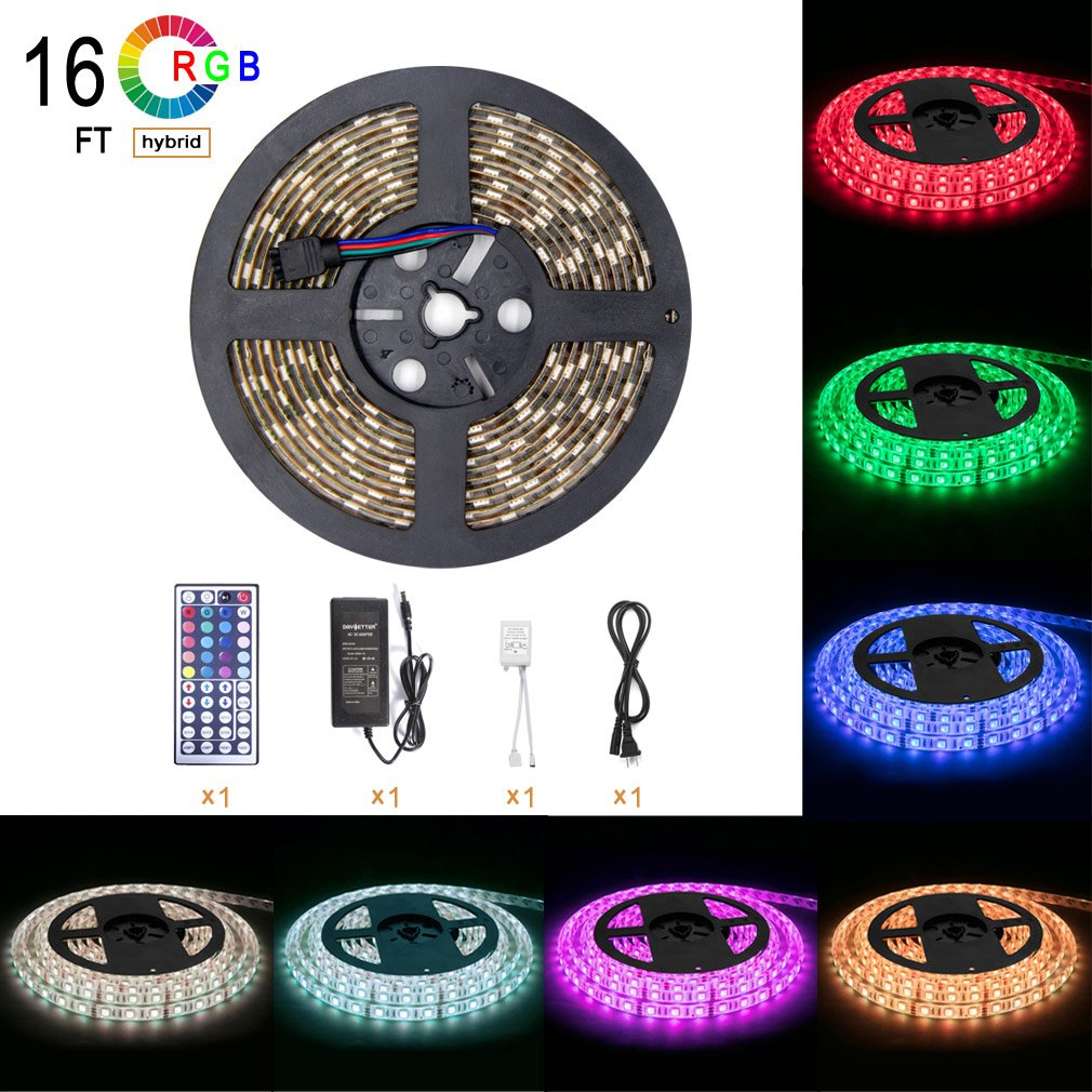 Color lines online strip game - Amazon Com Led Light Strip Kit Rgb Led Strip Waterproof Smd 5050 Rgb 16 4ft 5m 300 Leds With 44key Remote Controller And Power Supply For Holiday Party