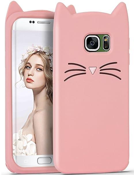 Rose Chat Coque Pour Samsung Galaxy S6,Housses de téléphone,TPU Silicone  Etui, b28e5d347731