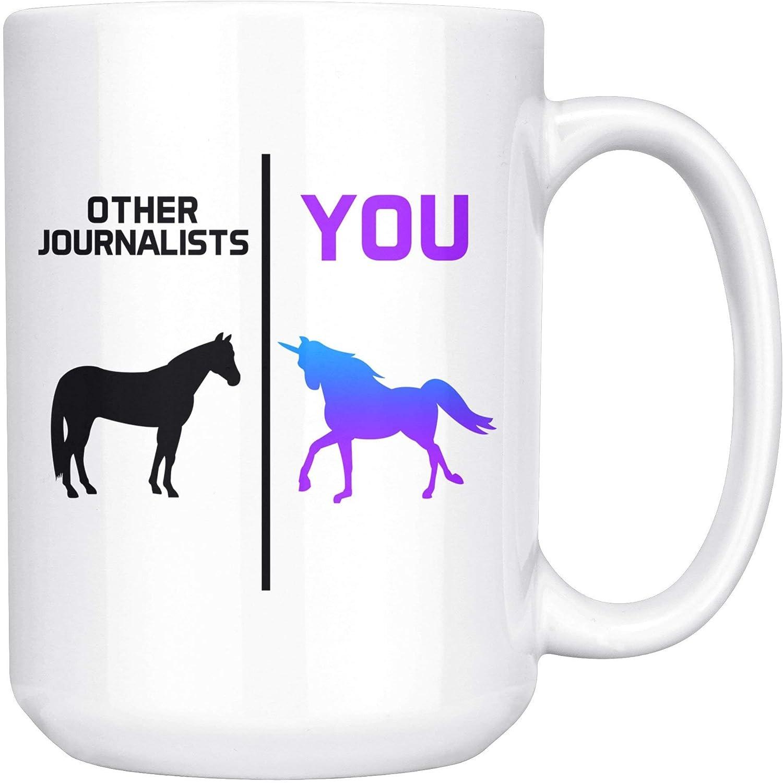 N\A Regalo Divertido de Periodista para Mujeres, Hombres, Ella, él, Taza, Taza de café, Idea, graduación, periodismo, E-64L