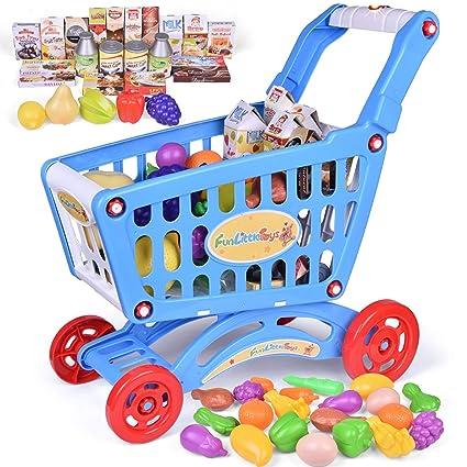Amazon.com: FunLittleToys - Carro de la compra de juguetes ...