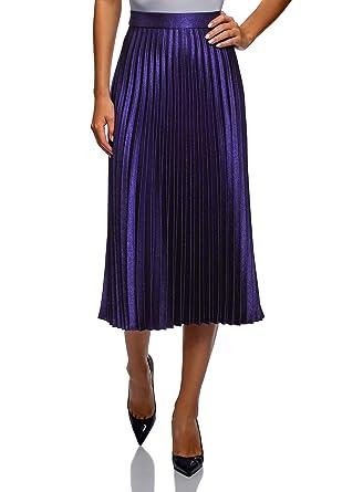 rivenditore di vendita f2751 204d6 oodji Collection Donna Gonna Plissettata Lunga