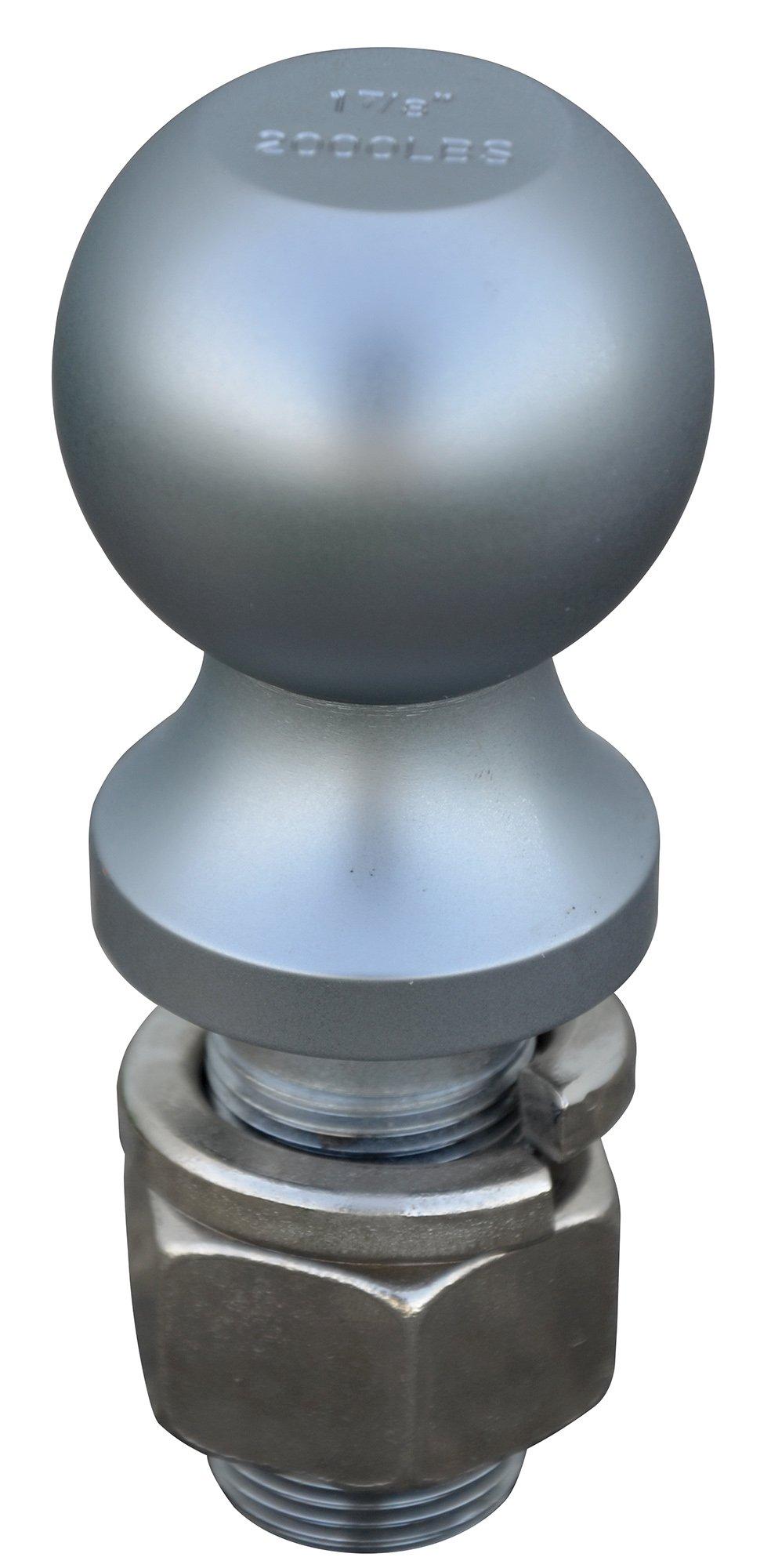 Vestil BALL-178 Fork Truck Tow Ball, Steel, 1-7/8'' Ball Diameter, 2000 lbs Capacity