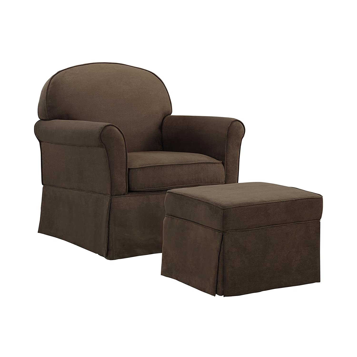 Baby Relax Swivel Glider and Ottoman Set, Light Grey Dorel Home Furnishings WM6009SGO-MG