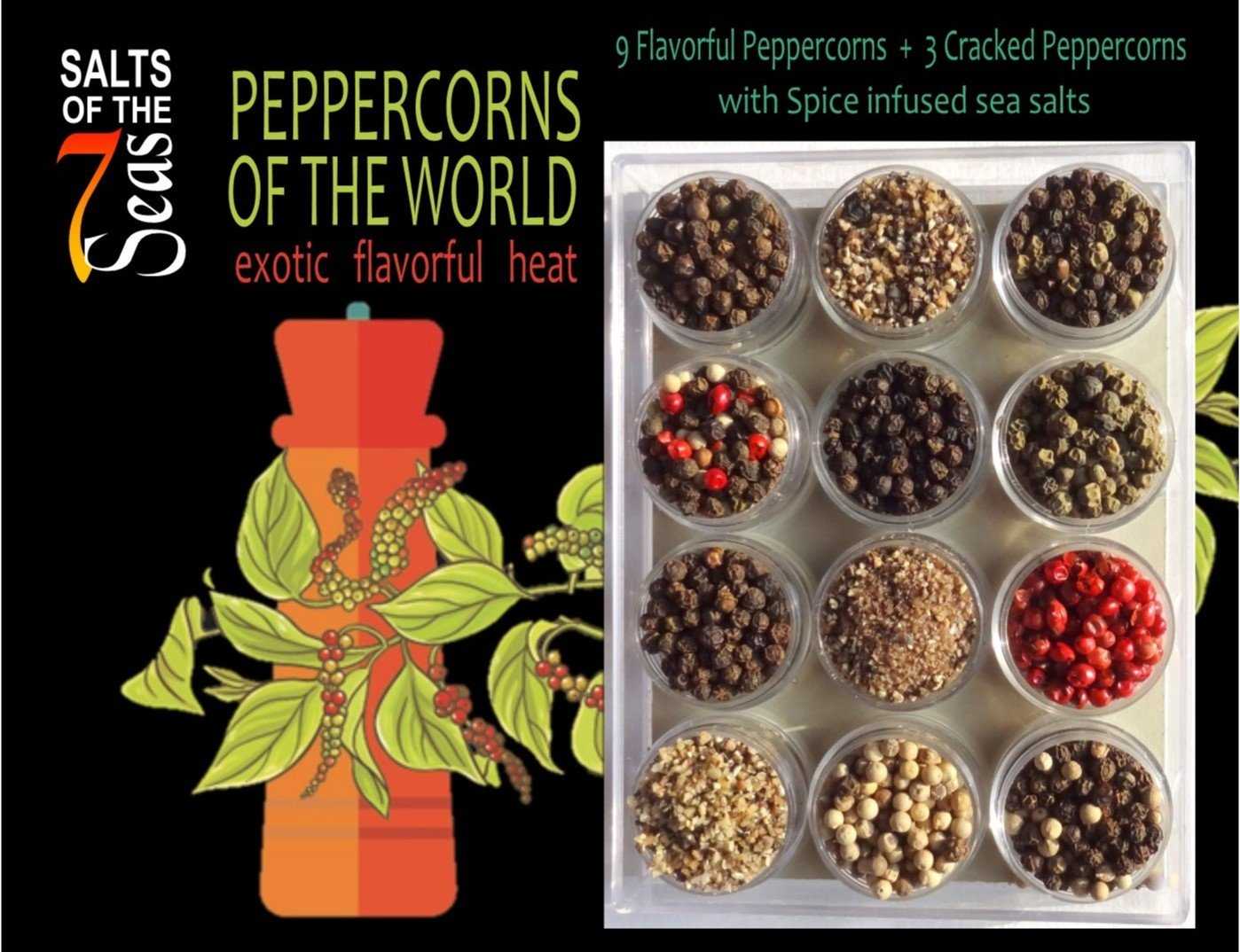 Peppercorns of the World Sampler by Salts of the 7 Seas (Image #1)