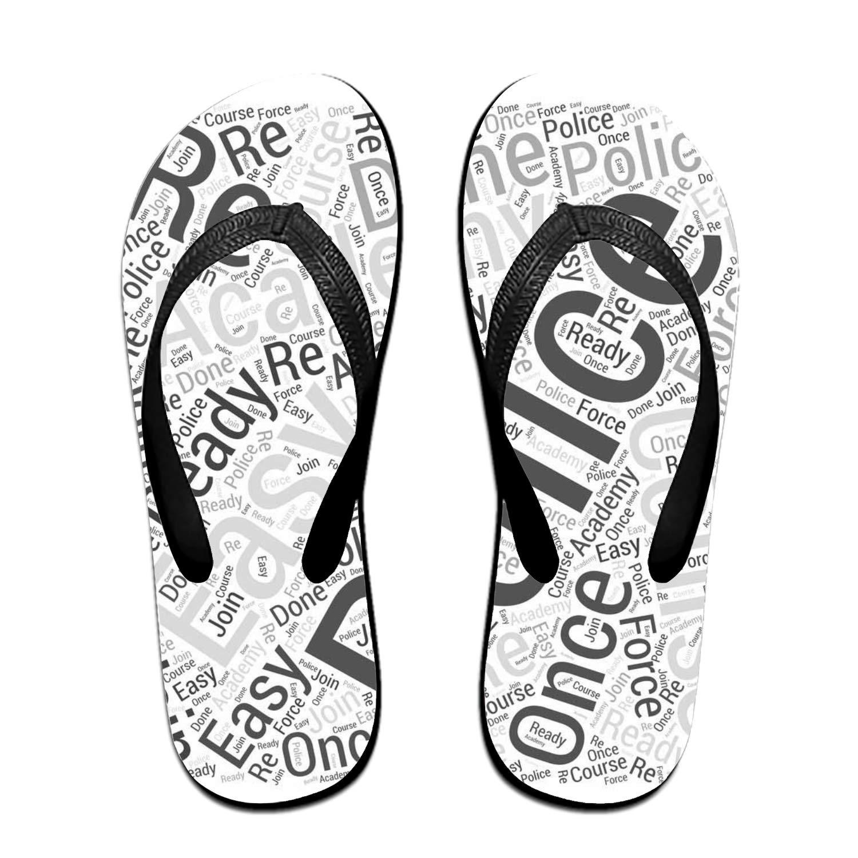 692e30824da Ohfsctn coloranimal police swat word printed flip flops for teenager girls  soft rubber home house slipper