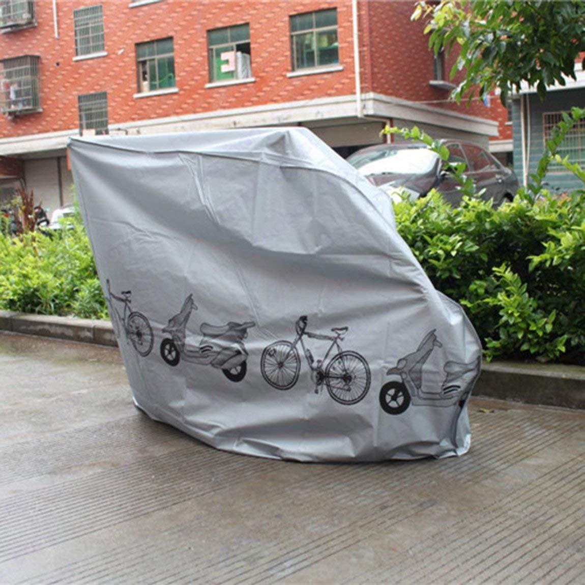Plata 73JohnPol Cubierta Protectora contra el Polvo UV a Prueba de Polvo Bicicleta Lluvia Cubierta de Polvo Impermeable Gris Exterior para Bicicleta Ciclismo