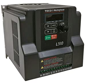 Teco Variable Frequency Drive, 3HP, 230 Volts 1 Phase Input, 230 Volts 3 Phase Output, L510-203-H1-N, VFD Inverter for AC motor control