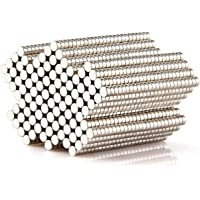 Round Multi-Use Magnets for Refrigerator Craft Project - Approximate 2 x 1 mm - 250 Pieces