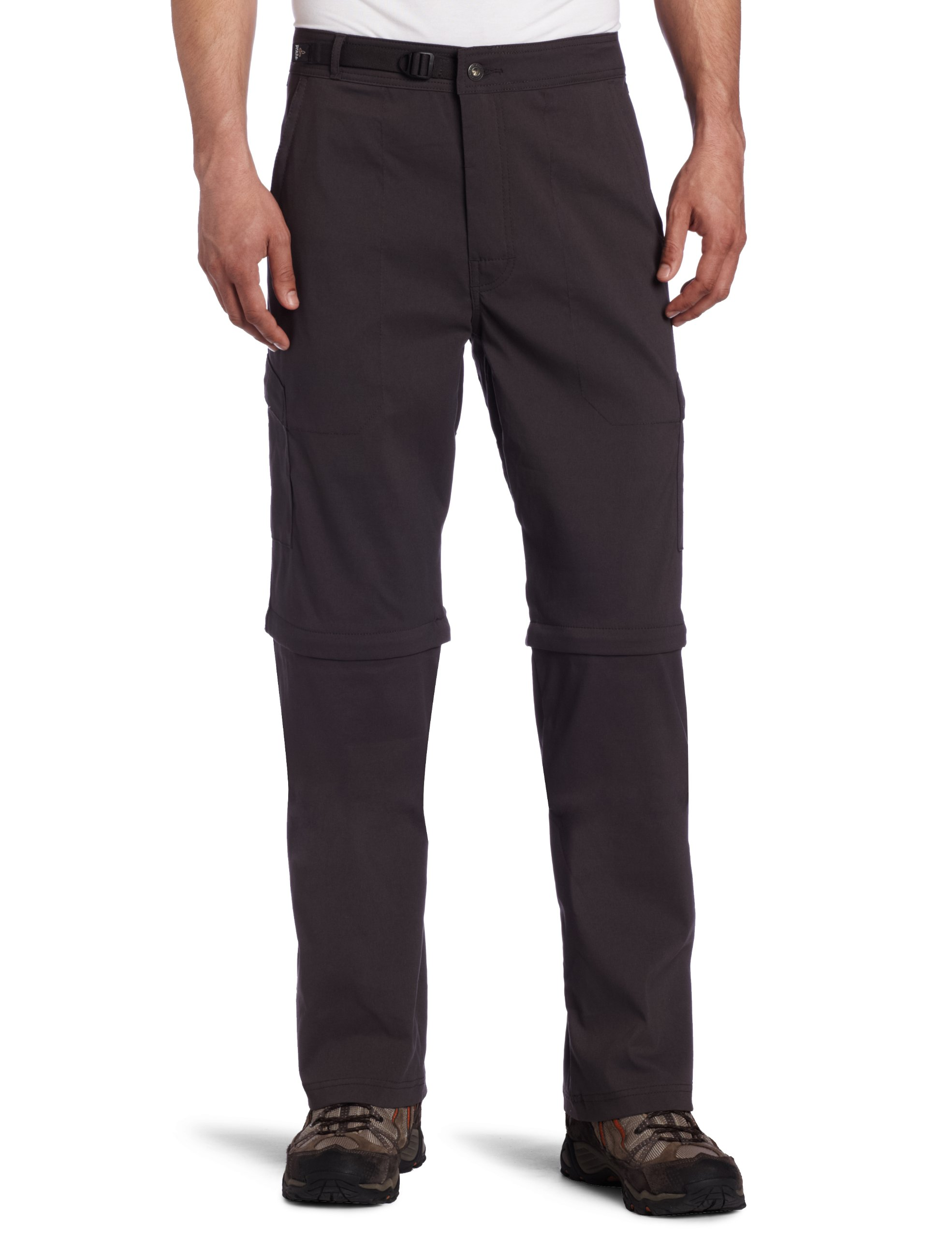 prAna Men's Stretch Zion 34-Inch Convertible Pant (Charcoal, X-Small)