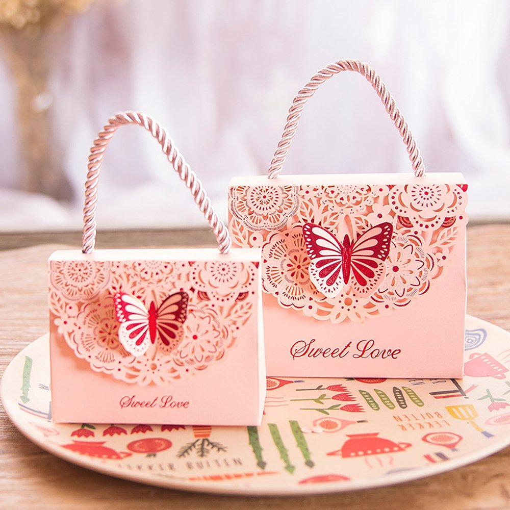 Amazon.com: Eyxia Wedding Favor Boxes Flower Laser Cut Party Favors ...