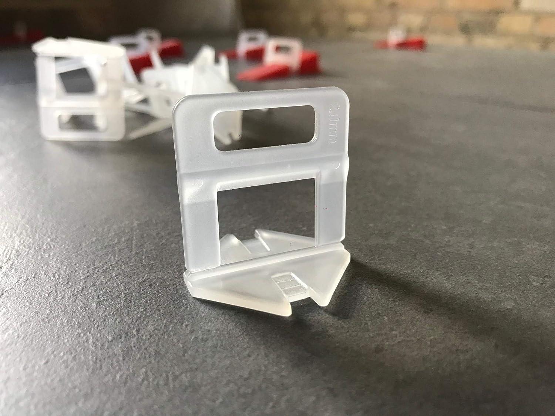 2000 Laschen 1000 Keile, 3,0mm 2000 Laschen 1000 Keile 3mm Das G/ÜNSTIGE Fliesen Nivelliersystem Zange Keile Zuglaschen einzeln oder im Set 1mm 1,5mm 2mm 2,5mm 3mm Mega-Auswahl an Variationen