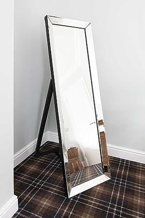 Luna Venetian Glass Frame Cheval Full Length Free Standing Silver ...