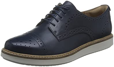 Clarks Women s Glick Shine Lace-up Oxfords Blue (Navy Leather) 5 UK  Buy  Online at Low Prices in India - Amazon.in b1b60283d4c