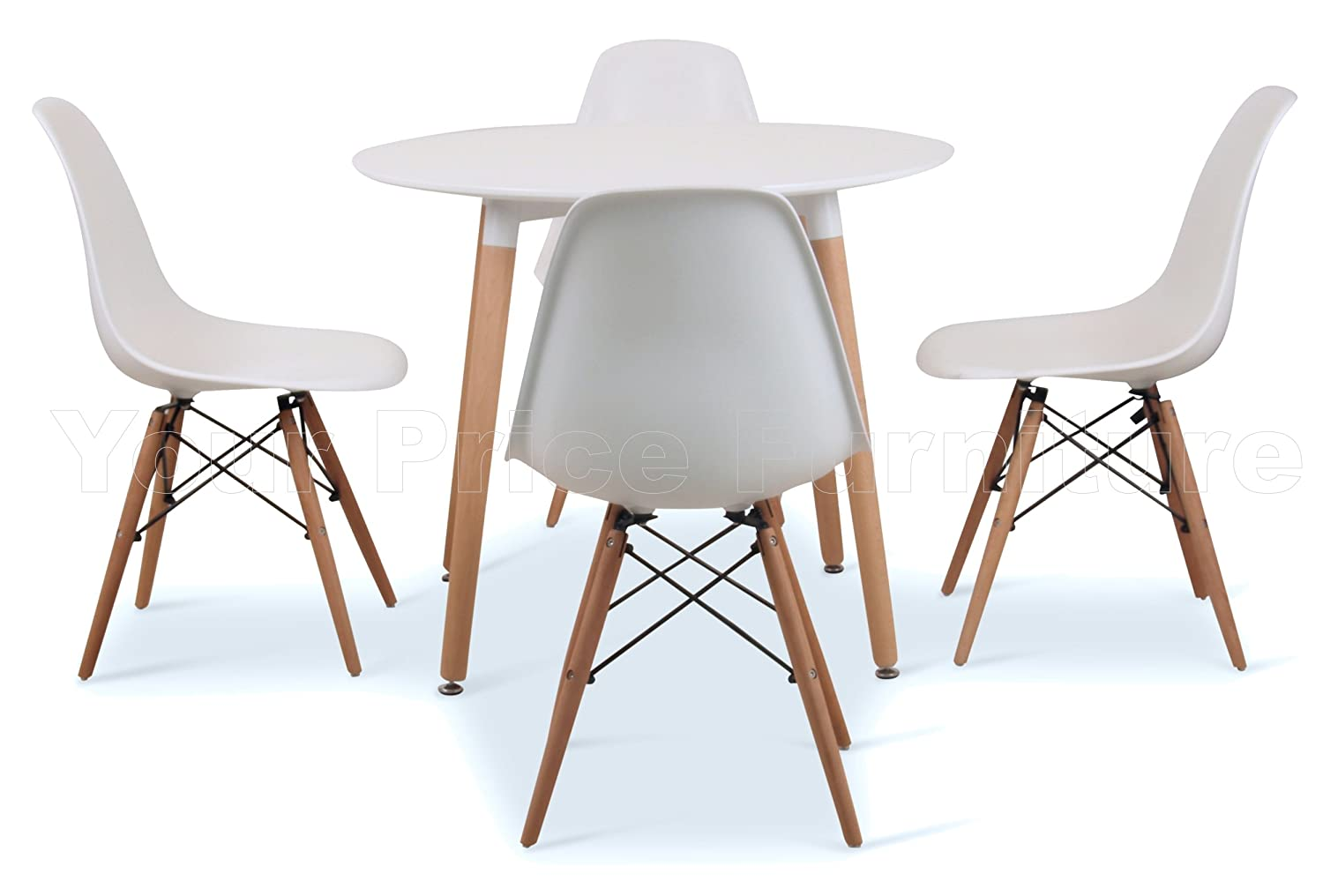 Small round white table starrkingschool for Small white dining table set