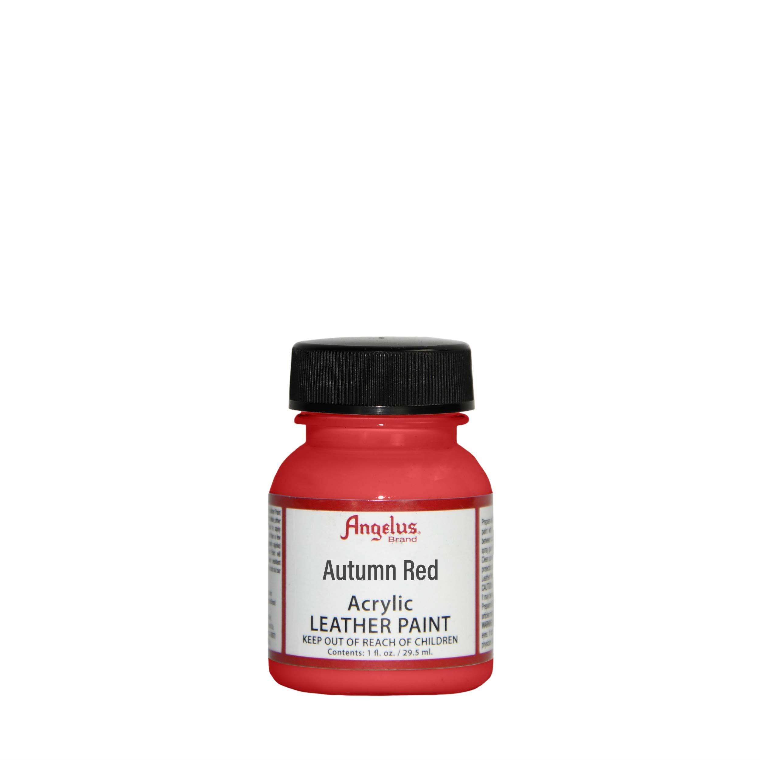 Angelus Pintura acrílica para cuero rojo otoño 118ml