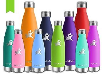 Amazon.com: KollyKolla - Botella de agua aislada al vacío de ...