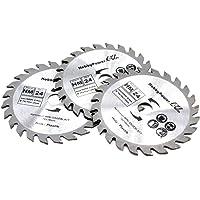 3 x zaagblad 76 x 10 mm accu cirkelzaag 12 V 10,8 V geschikt voor Bosch Metabo Milwaukee Mini handcirkelzaag dompelzaag