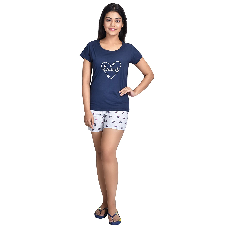 top & short nightwear set