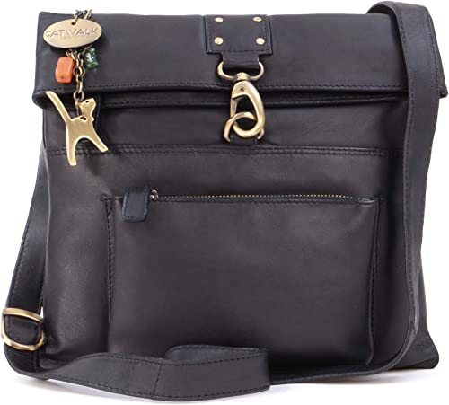 Women/'s Leather Cross-Body Bag Adjustable Strap