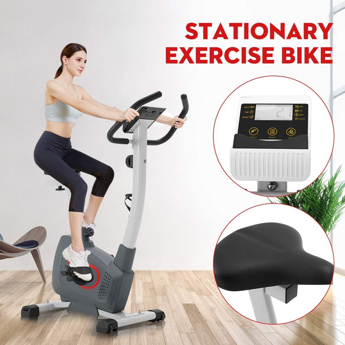 AECOJOY Magnetic Resistance Exercise Bike