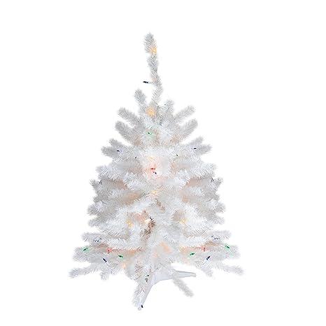 3 Pre Lit Christmas Tree.Amazon Com 3 Pre Lit Snow White Artificial Christmas Tree