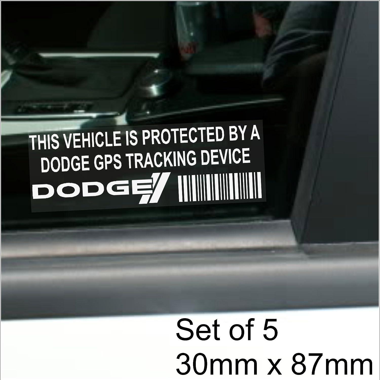 Voyage-Alarme voiture Viper Durango caravane 5 x DODGE dispositif de rep/érage GPS de fenetre 87 x 30 mm-chargeur Grand Challenger Fl/échette Van Tracker