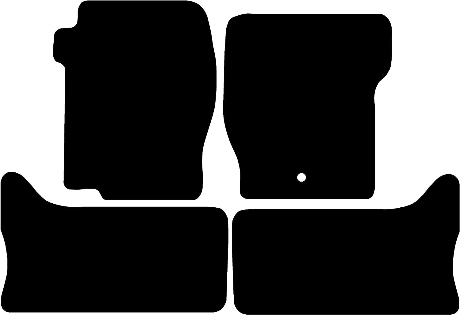 1999-2004 Grey with Black Trim Premium Connected Essentials CEM650 Car Mat Set for Discovery